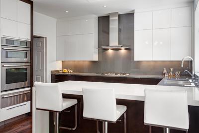 Contemporary Kitchens Toronto Design Renovation Davisville - Caesarstone blizzard countertop
